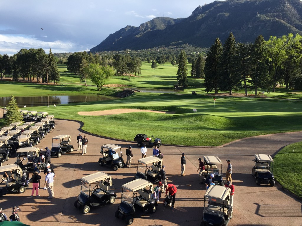CACI's annual golf tournament at the Broadmoor Hotel.