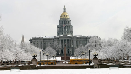 Capitol in winter